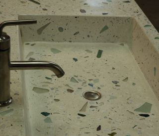 small concrete sink 11