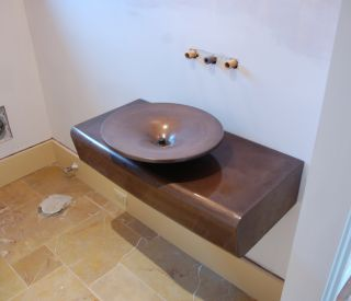 small concrete sink 6